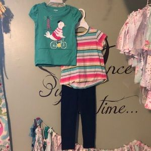 Gymboree tops and leggings 3pieces 3-4T